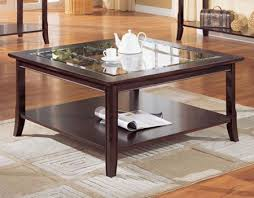 Glass Top Square Coffee Table Glass Coffee Tables And Black Table End With Regard To Square Top