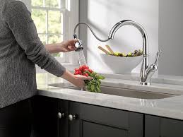 Touch Free Kitchen Faucet Delta Faucet 9178 Dst Leland Single Handle Pull Down Kitchen