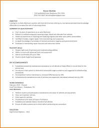 Maintenance Resume Sample Free 7 Mechanic Resume Assistant Cover Letter
