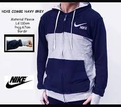 Jaket Nike Murah Bandung jual jaket nike combi finger navy grey pria wanita grosir murah