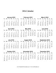 printable calendar large print printable 2016 calendar one page with large print vertical