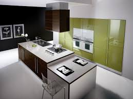Modern Kitchen Designs 2013 by Modern Kitchen Countertop With Stylish Design And Brown Cabinet