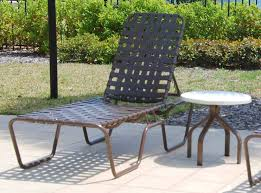 st maarten crossweave vinyl strap chaise lounge commercial