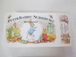 rabbit nursery set by wedgwood 4 vintage rabbit nursery set by wedgwood made in