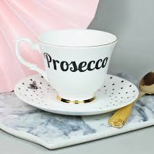 prosecco u0027 tea cup and saucer prosecco bone china and tea cup