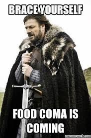 Food Coma Meme - coma