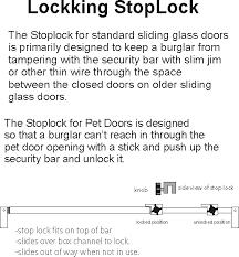 sliding glass door security bars stoplock sliding glass door lock