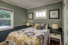 two color walls bedroom at home interior designing
