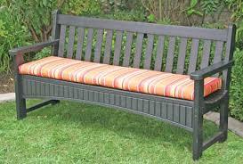 Garden Bench With Cushion Patio Bench Cushions Home Design