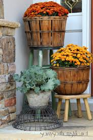 best 25 southern style decor ideas on pinterest southern savvy southern style classic mums in fall harvest baskets and decorative cabbages