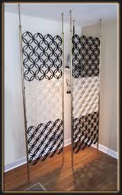 brilliant vertical tension rod room divider vintage 60s mid