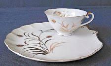 lefton china pattern lefton china 2 snack plates white painted wheat pattern mpn