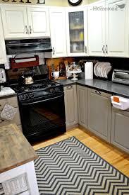 Zig Zag Floor L Kitchen Captivating L Shape Kitchen Decoration Ideas With White