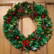 wreaths made from recycled plastic bags evergreen