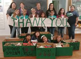 scout troop 54289 organizes thanksgiving care packages for