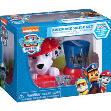 nickelodeon paw patrol awesome smile 3 pc walmart