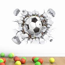 sport en chambre x 3d ballon de football football wall sticker decal enfants chambre