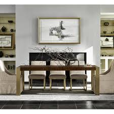 Mahogany Furniture Concept Gibson Modern Brushed Gold Mahogany Extending Dining Table Zin Home