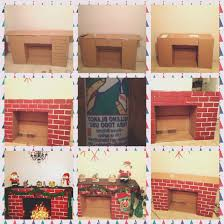 fireplace view diy cardboard fireplace good home design photo