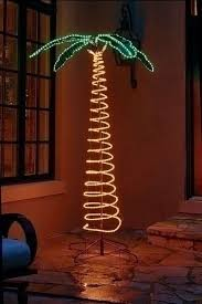 Tropical Christmas Decorations Outdoor by 7 U0027 Deluxe Tropical Lighted Holographic Rope Light Outdoor Palm