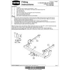 citroen berlingo towbar fitting instructions with simple pictures