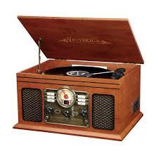 amazon com victrola nostalgic classic wood 6 in 1 bluetooth