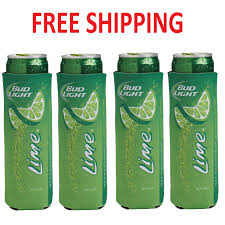 Bud Light 12 Pack Price 4 Pack Authentic Bud Light Lime Slim Can Koozie Coozie Coolie