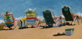 Two Beach Chairs Nancy Colella Simply Painting Beach Chairs