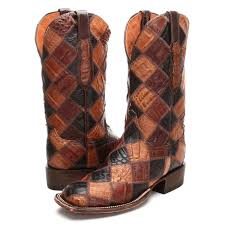 s boots cowboy bootdaddy s collection with lucchese patchwork caiman cowboy