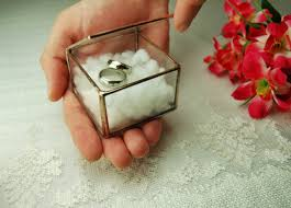 glass wedding rings glass ring box wedding ring holder geometric glass box ring