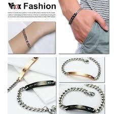 bracelet love price images Vnox free engraving couple bracelet love giving gift stainless jpg
