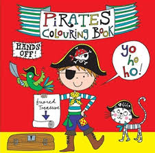 pirate colouring book personalised embroidered gifts perfect