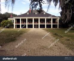 plantation home built 1787 french colonial stock photo 1572623
