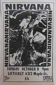 Nirvana Blind Pig Concertposterart Com Nirvana Rare 1989 Omaha Punk Grunge Concert