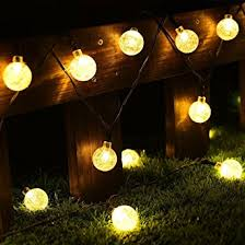 Light Up Balls On String by Cmyk Solar Operated 30 Led String Light With Crystal Ball Covers