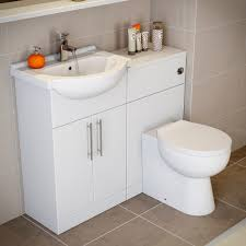 Bathroom Vanity Unit With Basin And Toilet Essentials White Gloss Vanity Unit Basin Toilet 1150mm Width