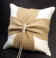 wedding ring pillow best 25 burlap ring pillows ideas on ring bearer