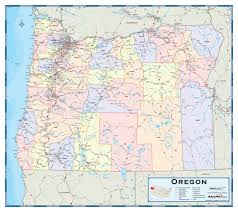 Washington Oregon Map by Usa County Map With County Borders Political Map Of North America