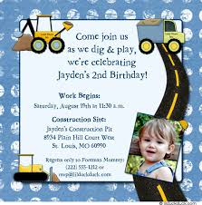 construction birthday party invitations dump trucks boys