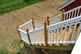 beautiful new deck railings and a black decker giveaway
