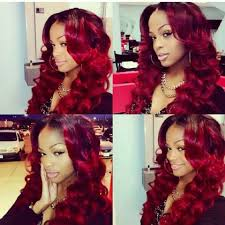 i love to see hair weave on black women dark red hair