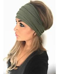 wide headband hot bargains on olive scrunch headband wide headband