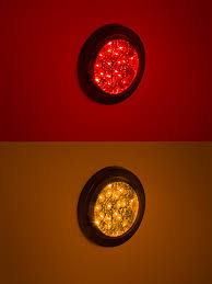 4 inch round led tail lights round led truck lights and trailer lights w clear lens 4 led