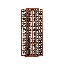 n u0027finity wine rack kit 4 column curved corner with display