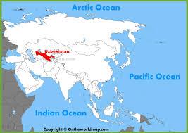 uzbekistan map in world uzbekistan maps maps of uzbekistan