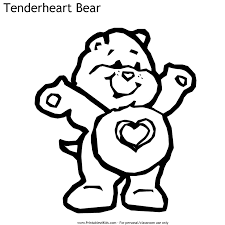 care bears tenderheart bear coloring printables kids