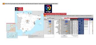 la liga table 2015 16 spain 2015 16 la liga location map with 14 15 attendance data