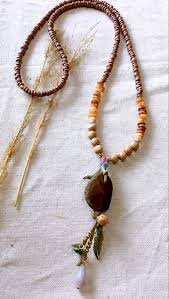 wood beaded necklace images Dongmu jewellery original handmade fashion natural stone pendant jpg