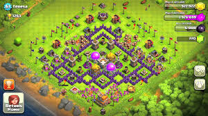 layout coc town hall level 7 naruto shippuden senki the batman base of coc of town hall7 image