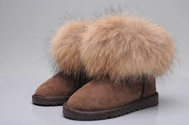 ugg sale website promotion sale uk ugg fox fur mini boots 5854 khaki gs11 k1812 jpg